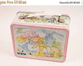1970s Tin Lunch Box With Thermos Polly Pollyana ~ The Pink Room ~ 161104
