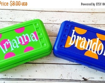 ON SALE Personalized Pencil, Marker, Crayon, Notion and Embellishment Organizer Box