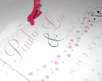 Paula & love wedding invitation