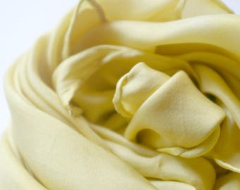 Wildcrafted Playsilk AUGUST : Plant Dyed Golden Yellow Silk (35 inch Hand Dyed Waldorf Inspired Toy)