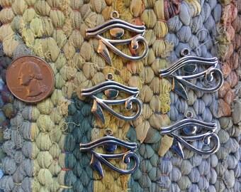 10 Pieces Antique Silver Eye of Horus Charms or Pendants