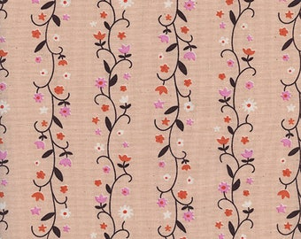 Cotton + Steel Welsummer - daisy vines - peachy - 50cm - PRE-ORDER
