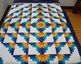 King  size machine quilted  Patchwork   Complete Quilt#92