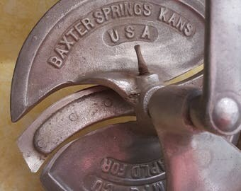 3 Items Vintage Meat Slicer, Food Choppers
