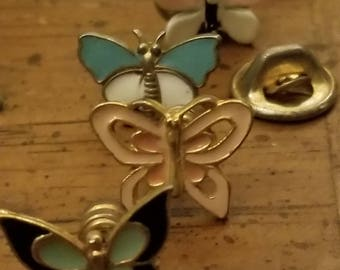 Set of Butterfly Vintage Pins