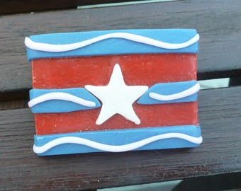 Red White and Blue Pin  - P034