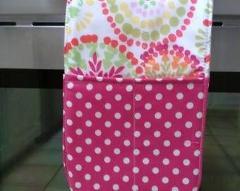 Handmade Double Oven Cassrole Mitt Hot Pink Lime Green Deometric  Polka Dot  Hot Pad Hot Pot Holder Trivet Gift