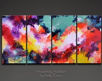 XXL Abstract Art Giclee Prints on Stretched Canvas, from my Original Abstract Paintings, Extra Large Wall Art, Something Sublime
