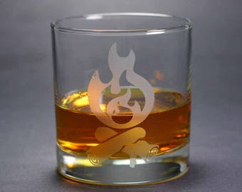 Campfire Lowball Glass - Great Outdoors Collection