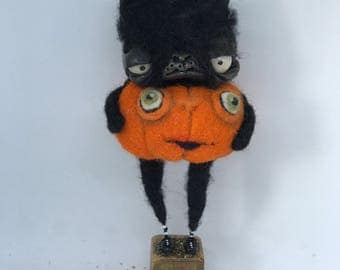 Jack the cat Ooak  art doll