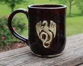 Dragon mug - browns