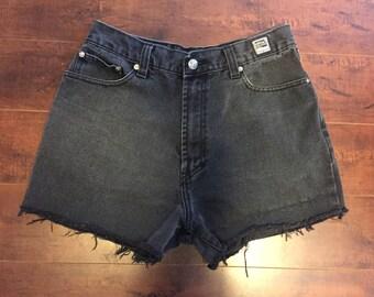Jean cut off shorts, cutoffs Jean Shorts   W 30 waist black