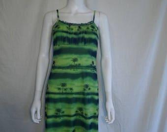 Closing Shop 40%off SALE 90s Mesh palm tree dress