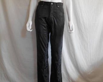 Closing Shop 40%off SALE 90s womens black Polyurethane pants