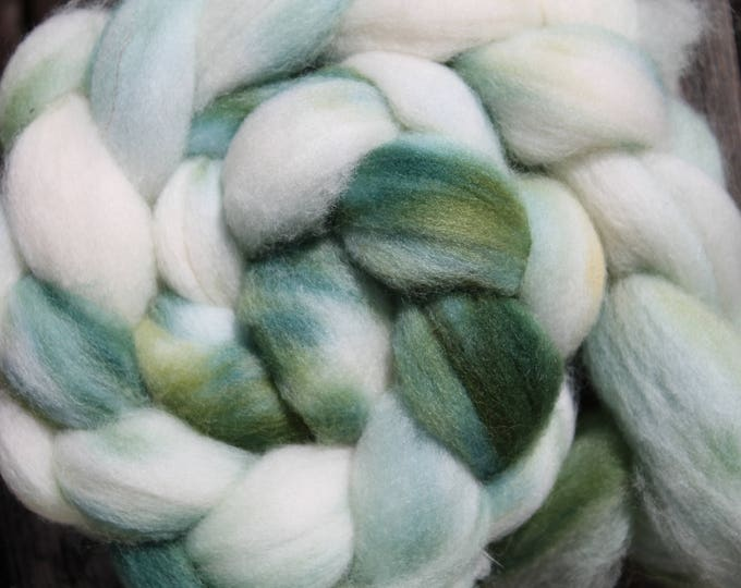 Kettle Dyed Falkland Wool Top.  Soft and easy to spin. 4oz  Braid. Spin. Felt. Roving. F173
