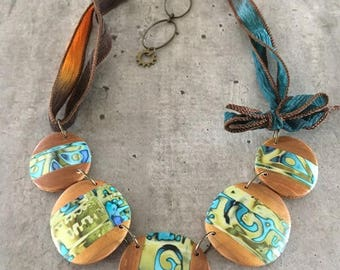 polymer clay necklace - new collection for summer