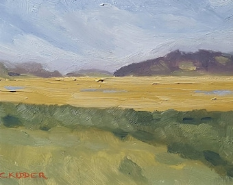 Marsh Painting ...In the Midst of it All ...8x10 Oil