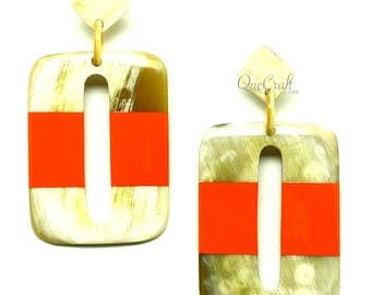 Horn & Lacquer Earrings - Q12853-O