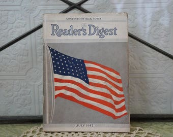 July 1942 Readers Digest WW2  war magazine