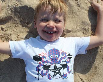 Phish Shirt, Octopus Drummer, Phish Baby, Phish Kids, Fishman Print, Jon Fishman, Phish T-Shirt, Phish One-piece, Phish Bodysuit, Nautical
