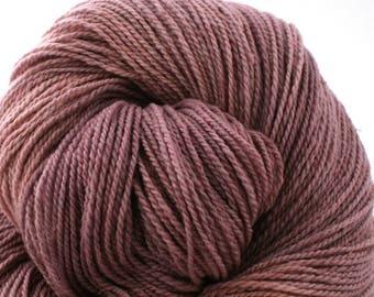 Mohonk Light Hand Dyed fingering weight NYS Wool 550yds 4oz Purple Haze