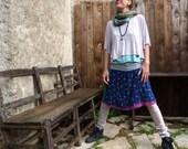 Short skirt sheer cotton, jersey waistband size 42 , UK14 , US10
