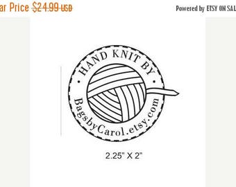 Xmas in July Ball of Yarn Hand Knit By Custom Rubber Stamp AD200