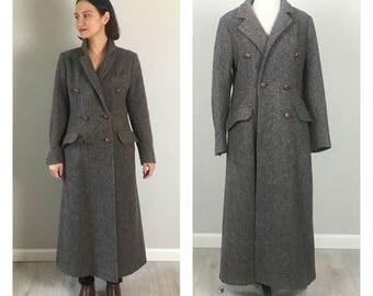 Grey Vintage 50's Wool MilitaryTweed jacket (Size M)