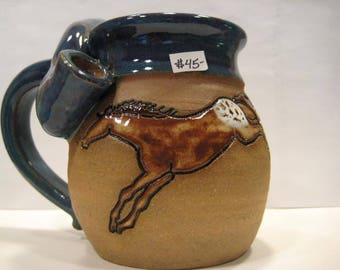 Horse YIPPIE KI-AY Wake and Bake Mug...  Smaller Size - Wake and Bake  Mug....  Mug and a Pipe.... Awesome !!!  .......     a25