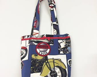 Tote Bag - Retro Motorcycles