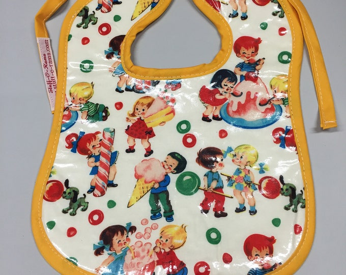 Wipeable Baby Bibs - Retro Candy Kids