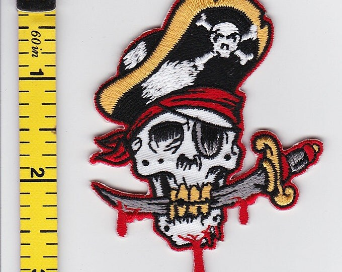 Iron On Patches - Pirate Skull by Artist REED