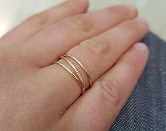 SALE - Gold wrap ring, 14K Gold Fill Wraparound ring, gold fill wrap ring, gold stack ring, gold infinity ring