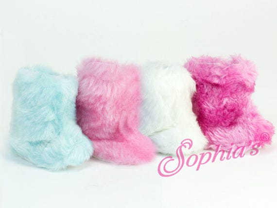 Fur Boots - 18 Inch Doll Shoes