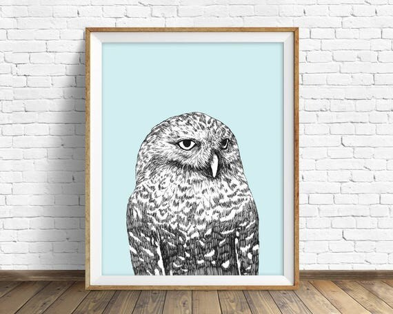 """Snowy Owl"" - wall art print"