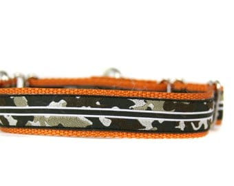 1 Inch Wide Dog Martingale in Camo Stripe - Deal of the Day