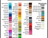 Pure Wool Felt - Choose your own colours  - 10 squares - Australian Merino Wool