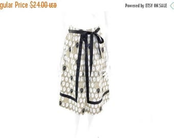 Summer Sale Vintage Black Sheep Skirt// Brown, white and Black Sheep Wrap Skirt// Size Medium// 124