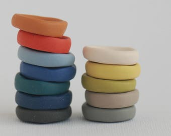 23 mm handmade buttons set of 12, Various popular colors