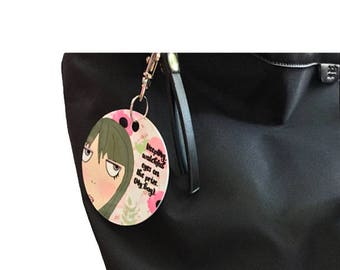 Purse Tag - Keeping watchful eyes on the prize.  (My bag)