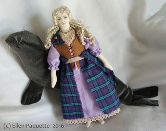 January 2018 Made to Order Selkie girl mythical seal legend art doll Scotland Ireland Celtic sea soft sculpture art doll