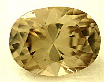 Vintage YELLOW ZIRCON Golden Gemstone Oval 2.81 cts fg49