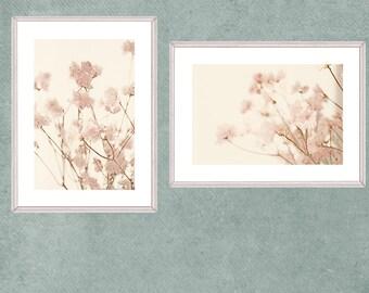 Two Floral Arts Prints, Digital Downloads, Azalea Photographs, Printable Flower Art, Large Art, Pink Nursery Decor, Bedroom Wall Art
