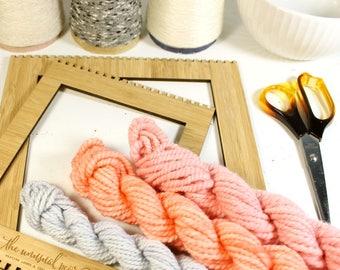 floral   ... handspun yarn set, weaving creative yarn bundle, hand spun, hand dyed yarn, handspun art yarn