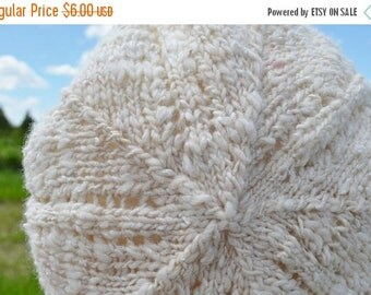 First Fall Sale - 15% Off Puffball Hat Knitting Pattern PDF - Hand Knitting Pattern Download for Slouchy Beret Tam Style Hat
