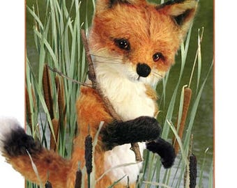 ON SALE Fox Sewing Pattern, Plush Fox, Realistic Fox PDF, Diy Fox Pattern, Teddy Bear Pattern, Red Fox Plushie, Diy Stuffed Animal, Woodland