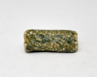 Blue green ceramic bead
