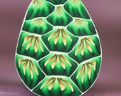 Dragon Egg/Turtle Shell Polymer Clay Cane - 'Deep Blue Sea' series