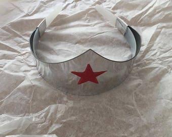 SALE Metallic Silver Wonder Woman style tiara costume cosplay accessory