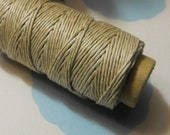 Spring Sale One New 100 foot spool of top quality, imported, 3-ply polished 0.5mm thick hemp cord in natural tan